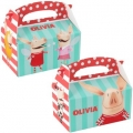 Olivia Pig Party Favor Boxes Empty (4) - Pre Order